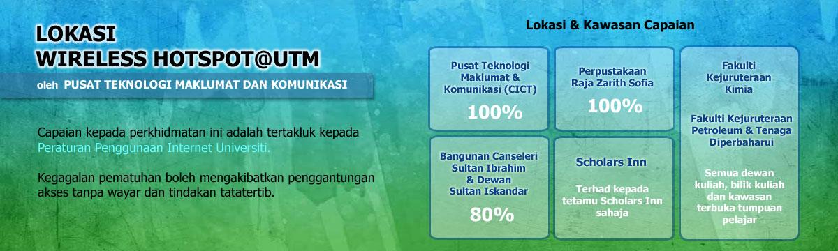 Lokasi Wireless Hotspot@UTM