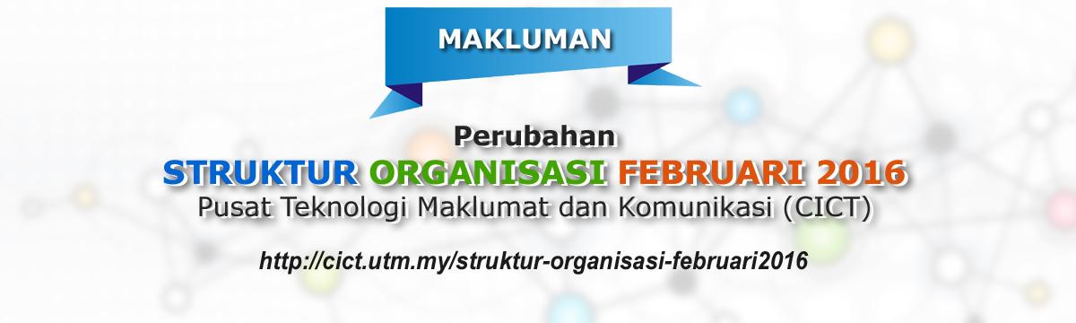 Struktur Organisasi Baharu CICT Februari 2016