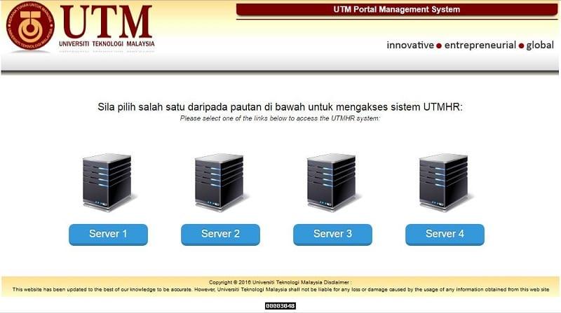 Temporary UTMHR System Interface