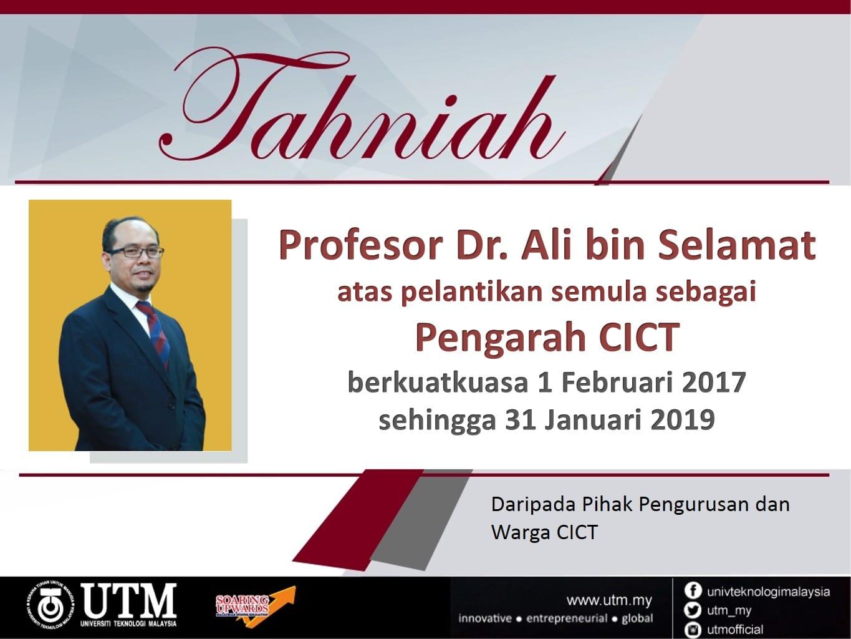 Tahniah Prof Ali