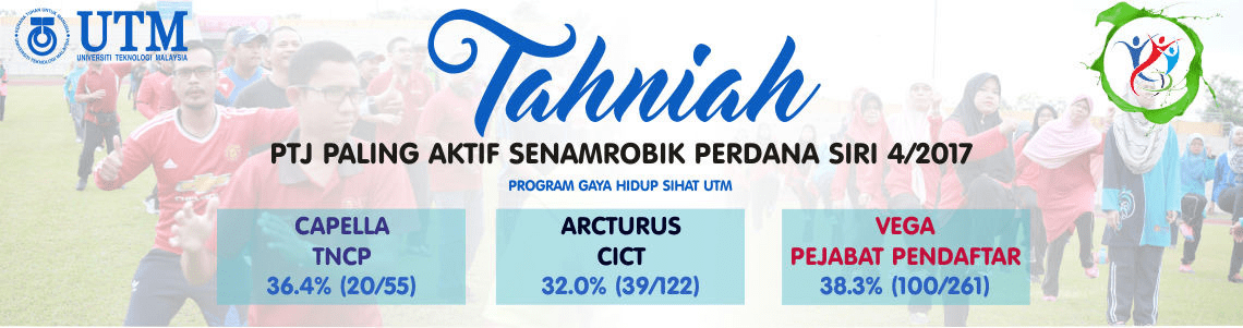 PTJ Paling Aktif Senamrobik Perdana Siri 4/2017