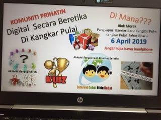 """Aktiviti Komuniti Digital """"Bangsa Johor Bahagia – Pangsapuri Kangkar Pulai"""", 6 April 2019 Oleh CICT – Siri 3"""
