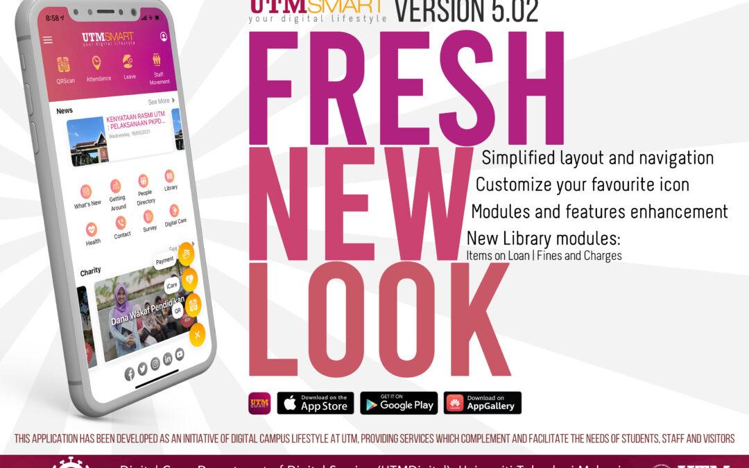 "UTMSmart Version 5.02: ""Fresh New Look"""